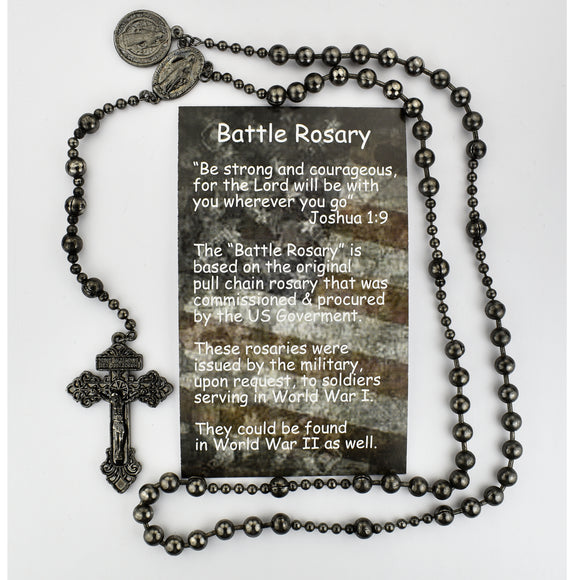 Gunmetal Battle Rosary