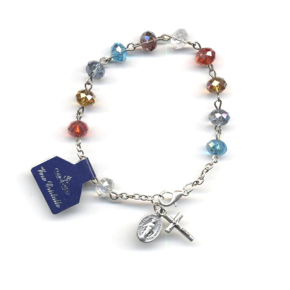 Multicolor Crystal Rosary Bracelet