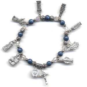 Assorted Saints Charm Bracelet