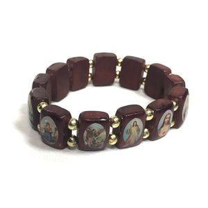 Wood Saints Bracelet - Small Beads
