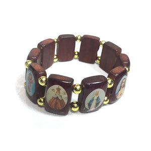 Wood Saints Bracelet - Large Beads