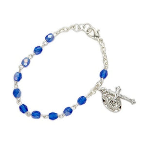 September Birthstone Miraculous Medal Bracelet