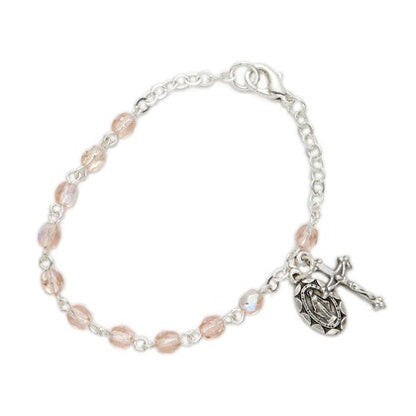 October Birthstone Miraculous Medal Bracelet