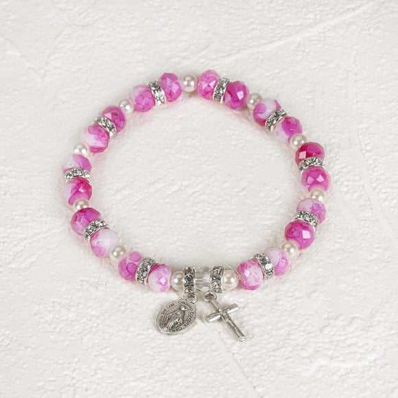 Hot Pink Stretch Bracelet