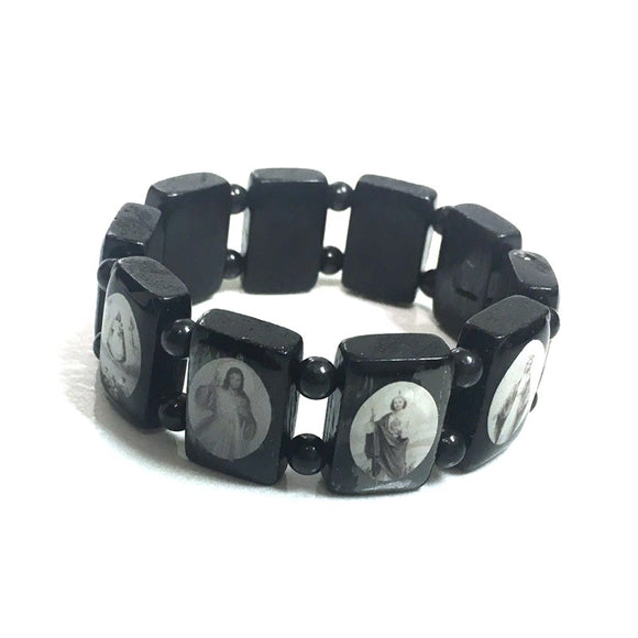 Black and White Saint Bracelet