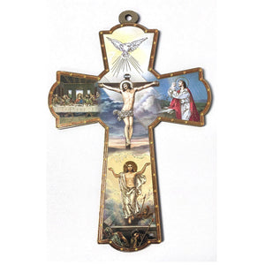 Resurrection Picture Wooden Wall Cross