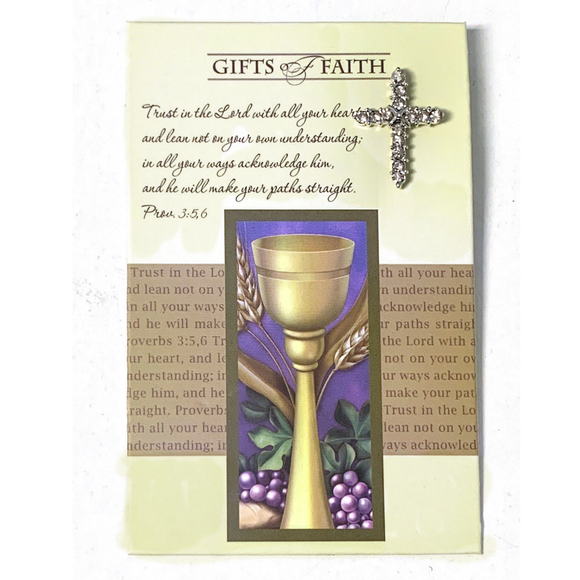 Girl's First Communion Carded Pin
