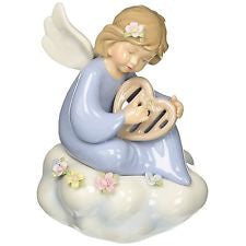Angel with Harp Musical Figurine