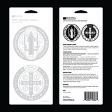 St. Benedict Medal Double Car Decal