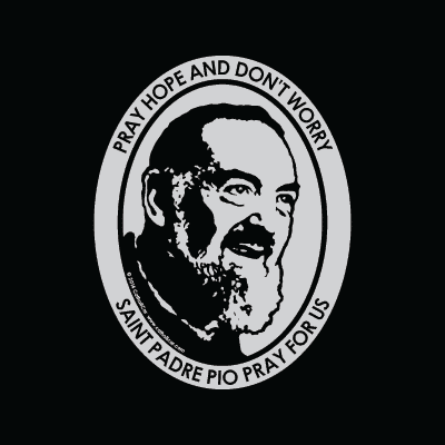 St. Padre Pio Car Decal