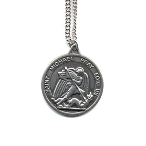 St. Michael/Guardian Angel Pewter Medal