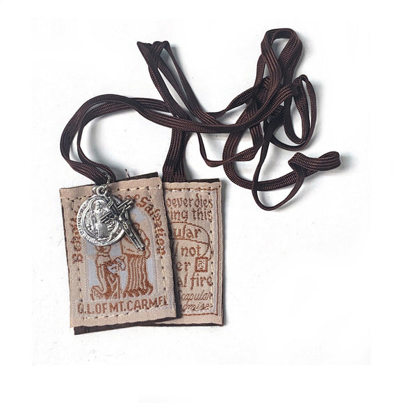 Mt. Carmel Brown Scapular with Medals