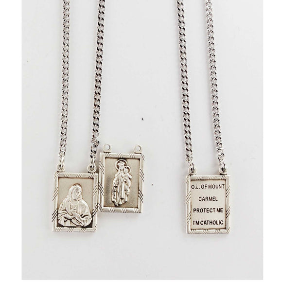 Scapular Pewter Medal and Prayer Card