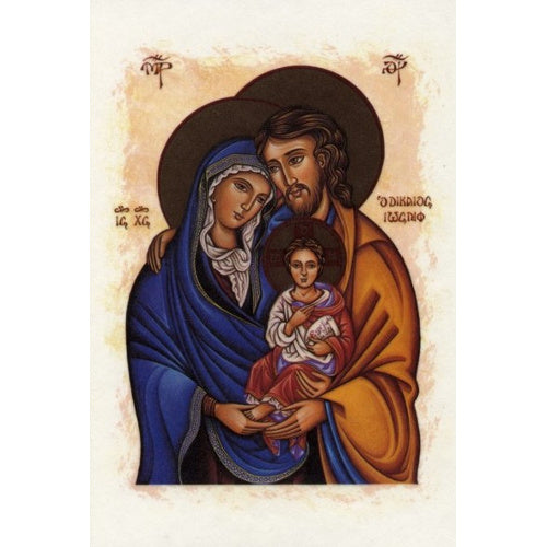 Holy Family Icon Blank Greeting Card