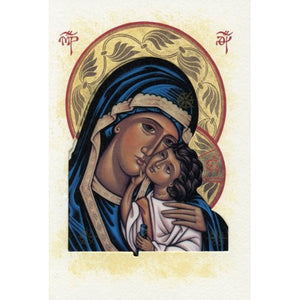 Theotokos Icon Blank Greeting Card