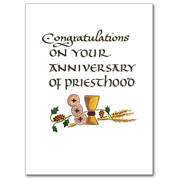 Congratulations on Your Anniversary of Priesthood