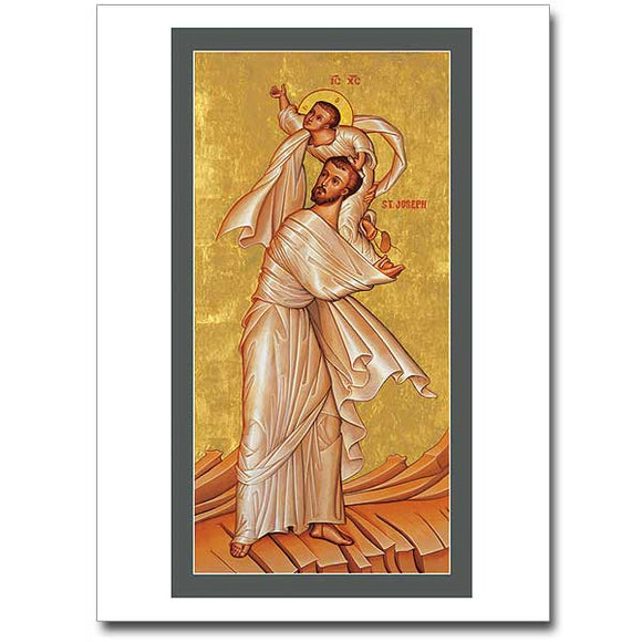 Blank Greeting Card - St. Joseph and Child Jesus from the Temple
