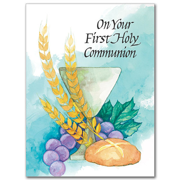 On Your First Holy Communion Card