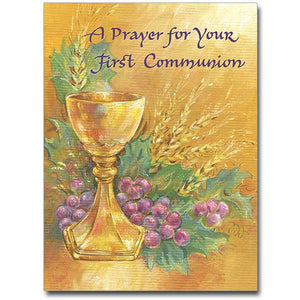 A Prayer for Your First Communion Card