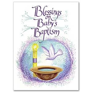 Blessings on Baby's Baptism Card