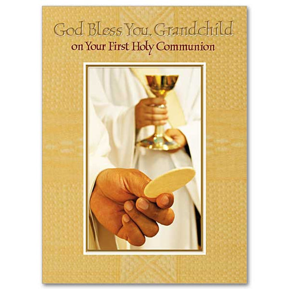 God Bless You, Grandchild on Your First Communion