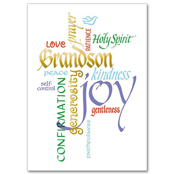 Fruits of the Spirit Grandson Card