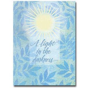 A Light in the Darkness Sympathy Card