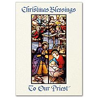 Christmas Blessings to Our Priest Card