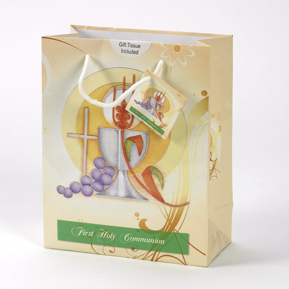Yellow First Communion Gift Bag