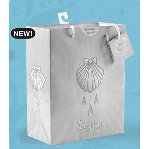 Gray Baptism Gift Bag