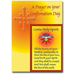 A Prayer on Your Confirmation Day Card
