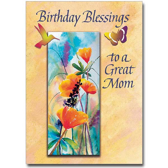 Birthday Blessings to a Great Mom