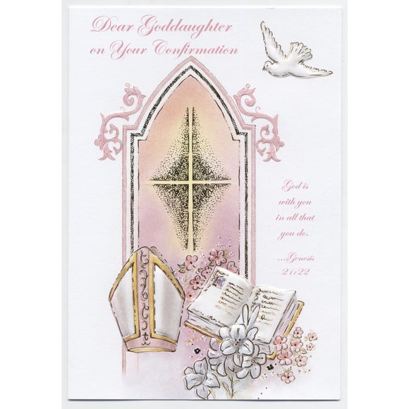 Dear Goddaughter Confirmation Card