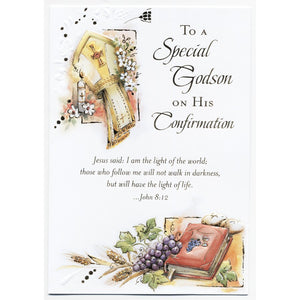 Special Godson Confirmation Card