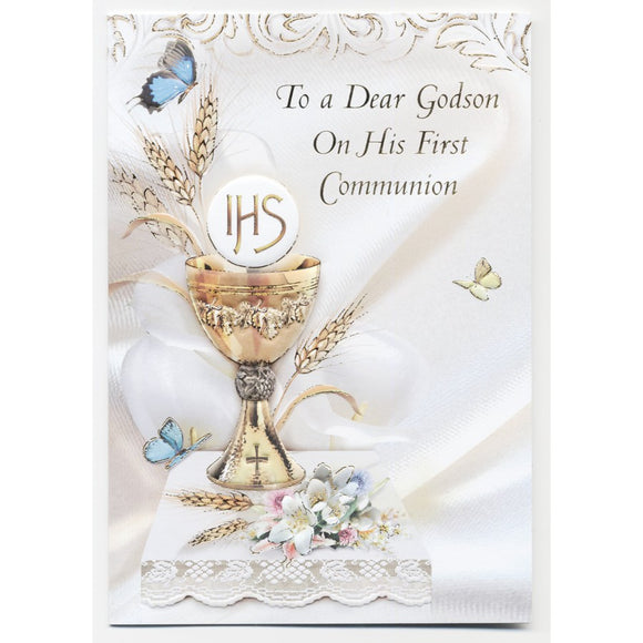 Dear Godson First Communion Card