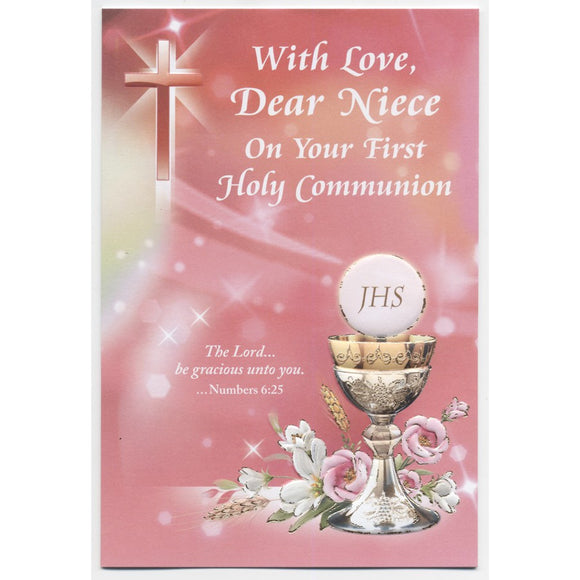 Dear Niece First Holy Communion Card