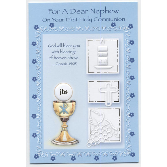 Dear Nephew First Communion Card