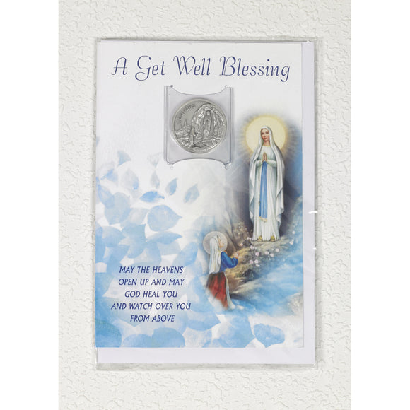 Get Well Blessing Card and Token