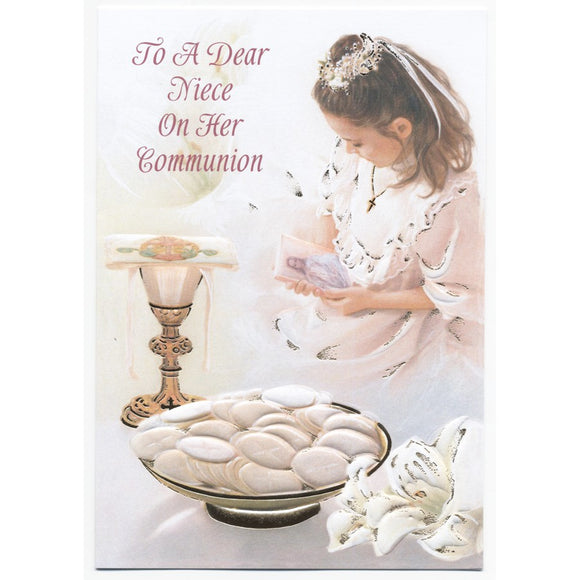 Dear Niece Communion Card