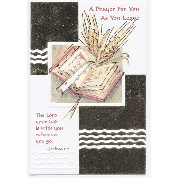A Prayer for You As You Leave Card