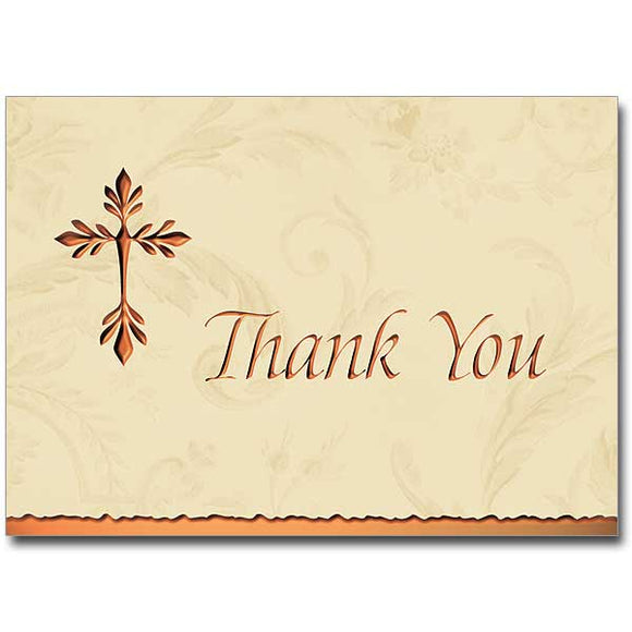 Copper Cross Deluxe Thank You Notes