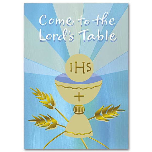 Come to the Lord's Table First Communion Card