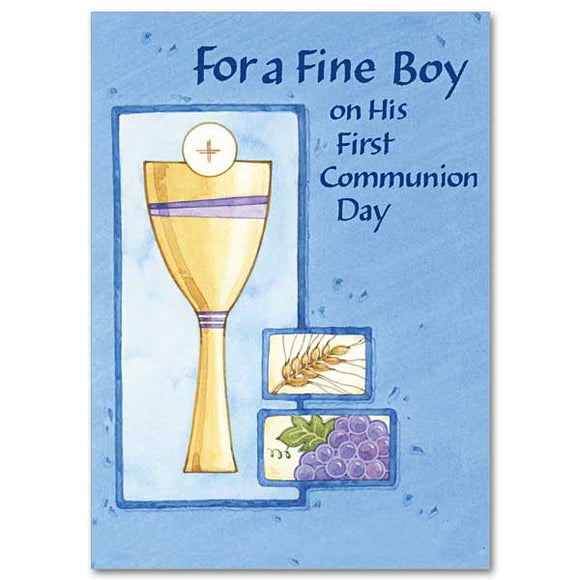 For a Fine Boy First Communion Day Card