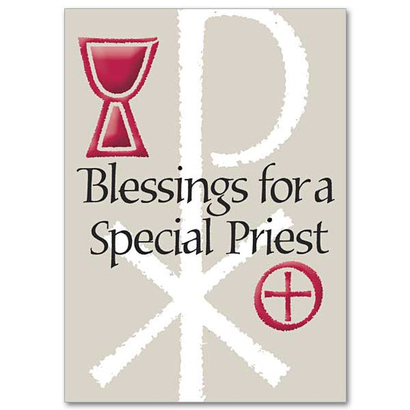 Blessings for a Special Priest Birthday Card