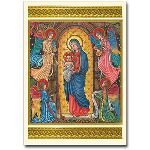 Beuronese Madonna and Child with Angels Christmas Cards