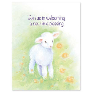 Join Us in Welcoming a New Little Blessing  Baby Shower Invitations