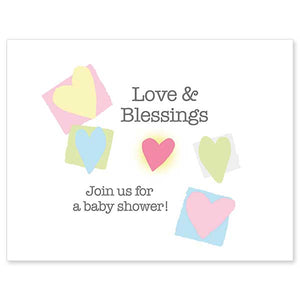 Love and Blessings Baby Shower Invitations