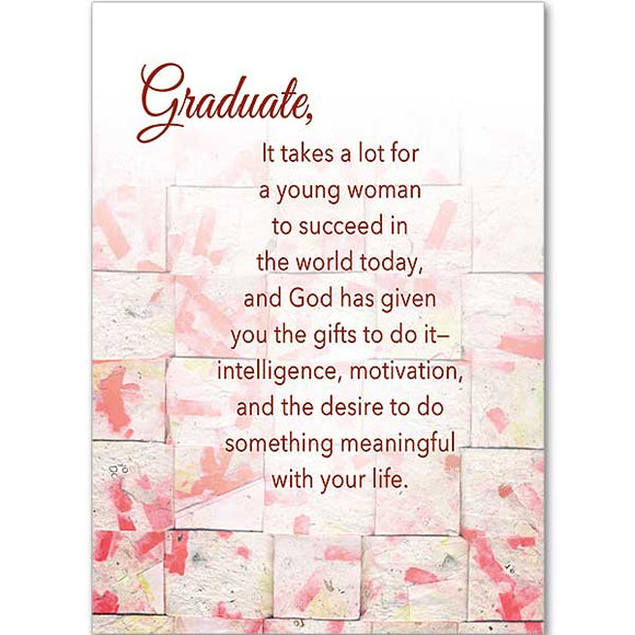 It Takes a Lot to Succeed Graduation Card