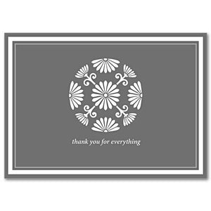 Gray Medallion Thank You Notes