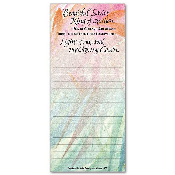 Beautiful Savior Magnetic Notepad